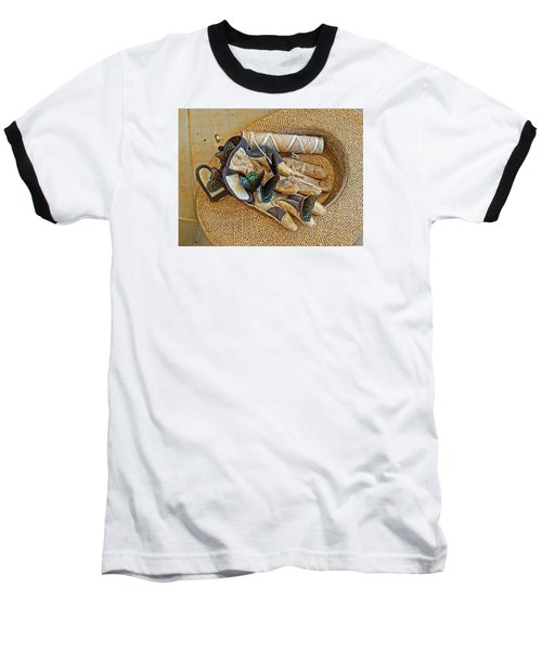 Baseball T-Shirt featuring the photograph Jean's Butterflies by Larry Bishop