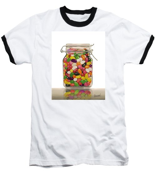Jelly Beans Baseball T-Shirt by Ferrel Cordle