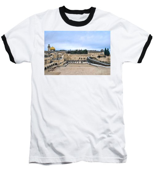 Jerusalem The Western Wall Baseball T-Shirt