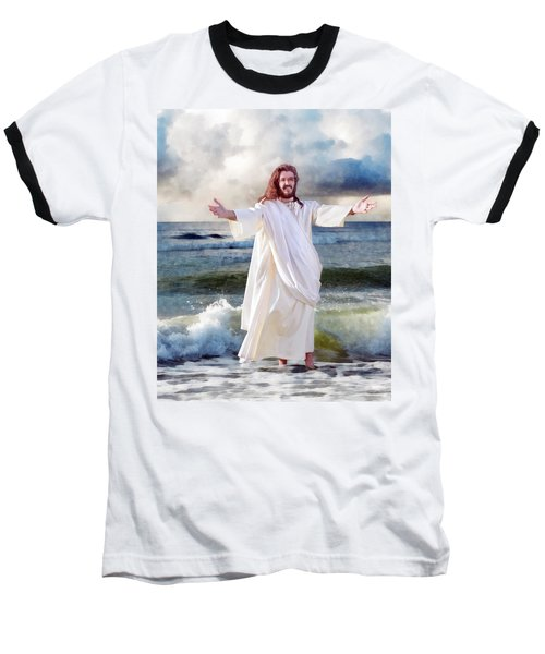 Jesus On The Sea Baseball T-Shirt