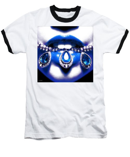 Jewelips Soft Blue Baseball T-Shirt
