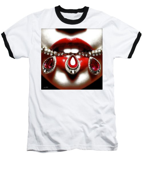 Jewelips Soft Red Baseball T-Shirt