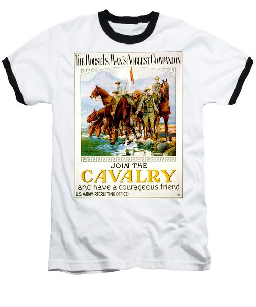 Join The Cavalry 1920 Baseball T-Shirt by Padre Art