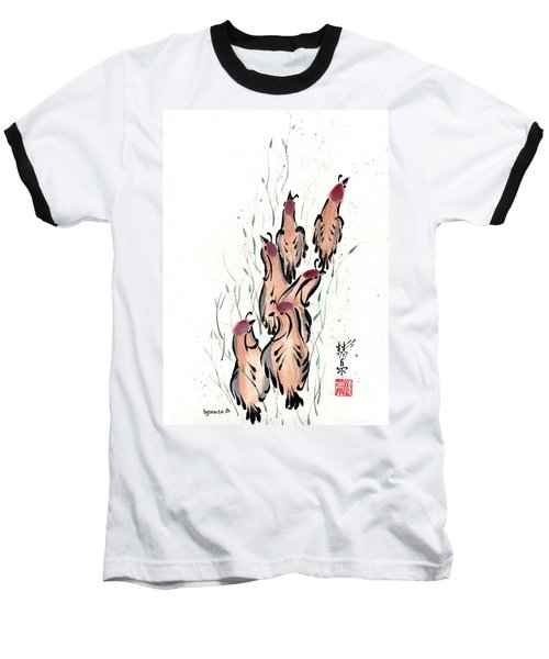 Baseball T-Shirt featuring the painting Joyful Excursion by Bill Searle