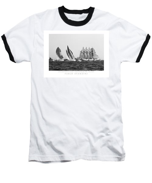 Baseball T-Shirt featuring the photograph Juan Sebastian Elcano Departing The Port Of Cadiz by Pablo Avanzini