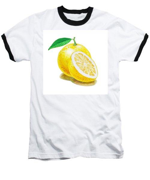 Baseball T-Shirt featuring the painting Juicy Grapefruit by Irina Sztukowski