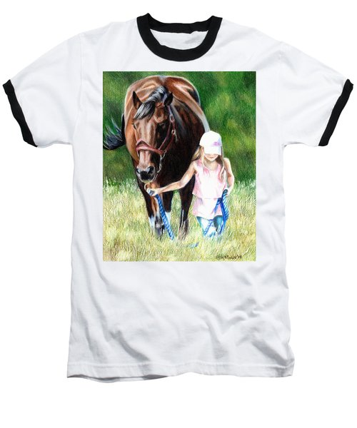 Just A Girl And Her Horse Baseball T-Shirt
