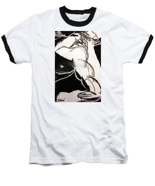 Just Man Baseball T-Shirt by Helen Syron