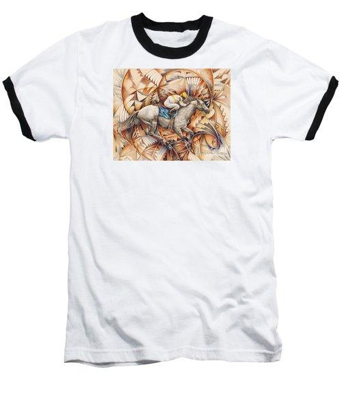 Kaleidoscope Rider Baseball T-Shirt