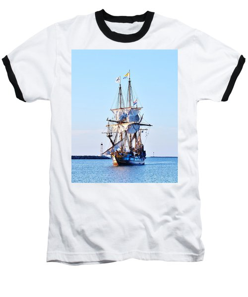 Kalmar Nyckel Tall Ship Baseball T-Shirt