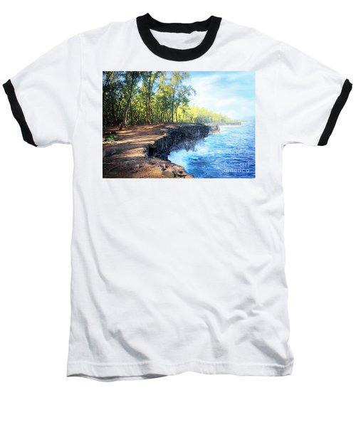 Kaloli Point Hawaii Baseball T-Shirt by Ellen Cotton