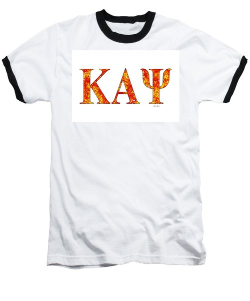Baseball T-Shirt featuring the digital art Kappa Alpha Psi - White by Stephen Younts