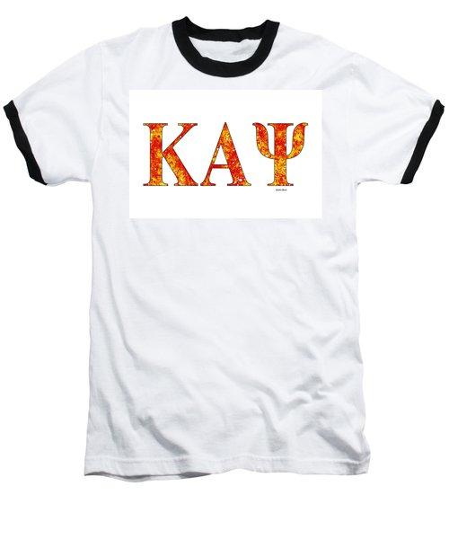 Kappa Alpha Psi - White Baseball T-Shirt by Stephen Younts