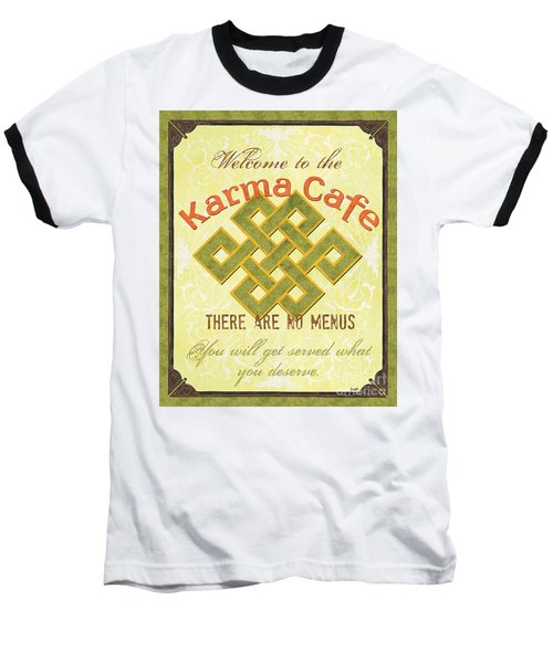 Karma Cafe Baseball T-Shirt by Debbie DeWitt