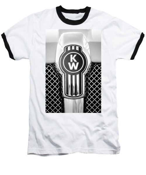 Kenworth Truck Emblem -1196bw Baseball T-Shirt