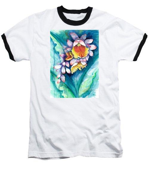 Key West Ginger Baseball T-Shirt by Ashley Kujan