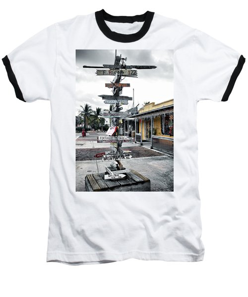 Key West Wharf Baseball T-Shirt