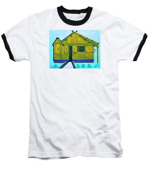 Kiddie House Baseball T-Shirt by Lorna Maza