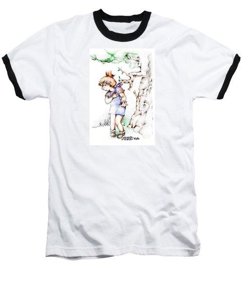 Trail Blazing Edition Kidnabbed 2 Foto Baseball T-Shirt by Dawn Sperry