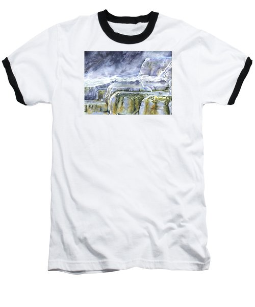 Killdeer Palisades - Mammoth Hot Springs Baseball T-Shirt