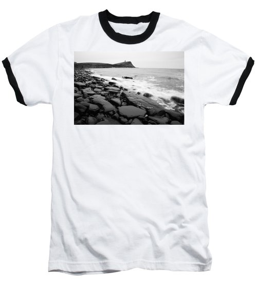 Kimmeridge Bay In Black And White Baseball T-Shirt
