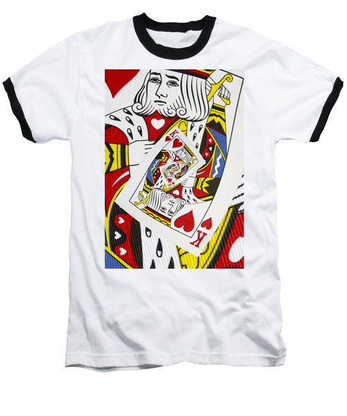 King Of Hearts Collage Baseball T-Shirt
