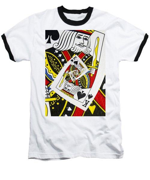 King Of Spades Collage Baseball T-Shirt