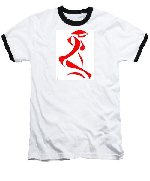 Kneeling Nude Baseball T-Shirt