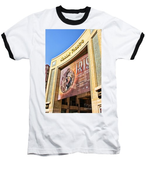 Kodak Theatre Baseball T-Shirt by Mariola Bitner