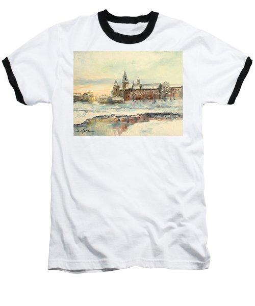 Krakow - Wawel Castle Winter Baseball T-Shirt