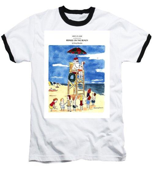 Kringle On The Beach Baseball T-Shirt