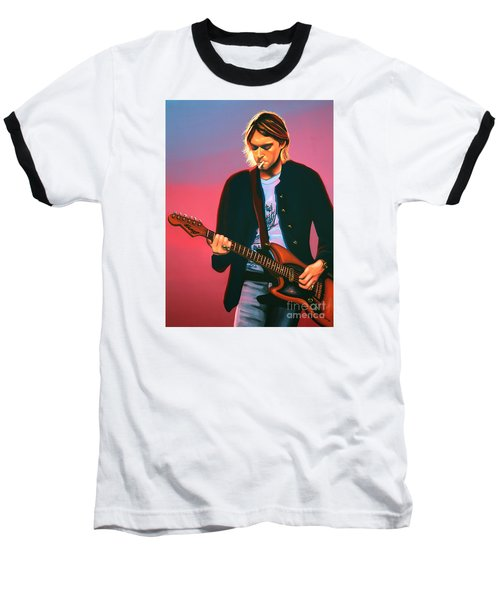 Kurt Cobain In Nirvana Painting Baseball T-Shirt