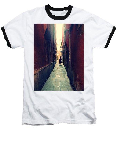 Baseball T-Shirt featuring the photograph La Cameriera  by Micki Findlay