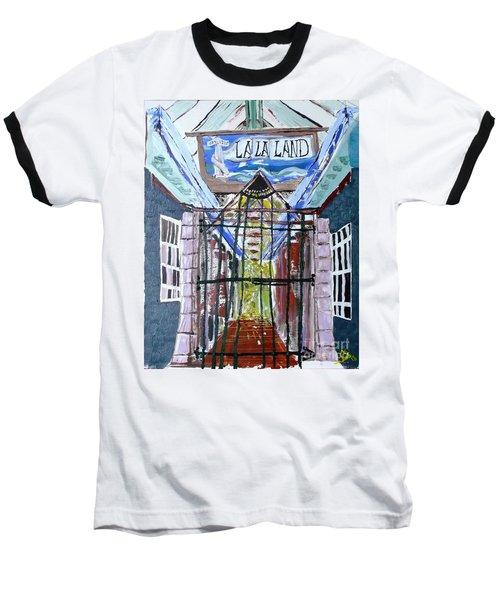La La Land  Baseball T-Shirt by Leslie Byrne