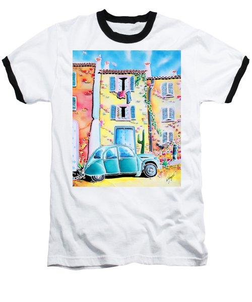 Baseball T-Shirt featuring the painting La Maison De Copain by Hisayo Ohta