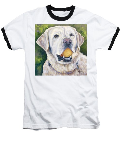 Lab With Orange Ball Baseball T-Shirt