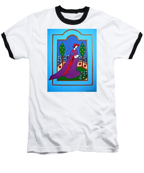 Lady In A Garden Baseball T-Shirt by Stephanie Moore
