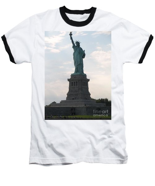 Baseball T-Shirt featuring the photograph Lady Liberty by Luther Fine Art