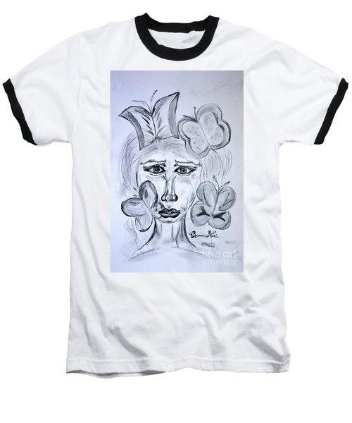 Lady Queen Of Butterflies Baseball T-Shirt