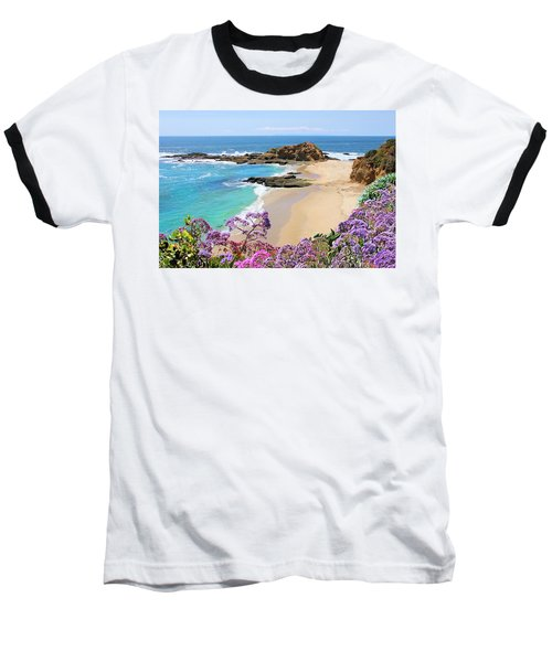 Laguna Beach Coastline Baseball T-Shirt