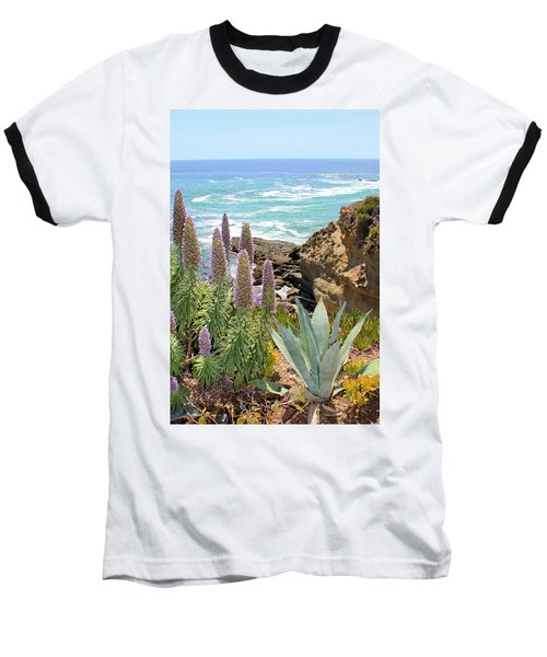 Laguna Coast With Flowers Baseball T-Shirt