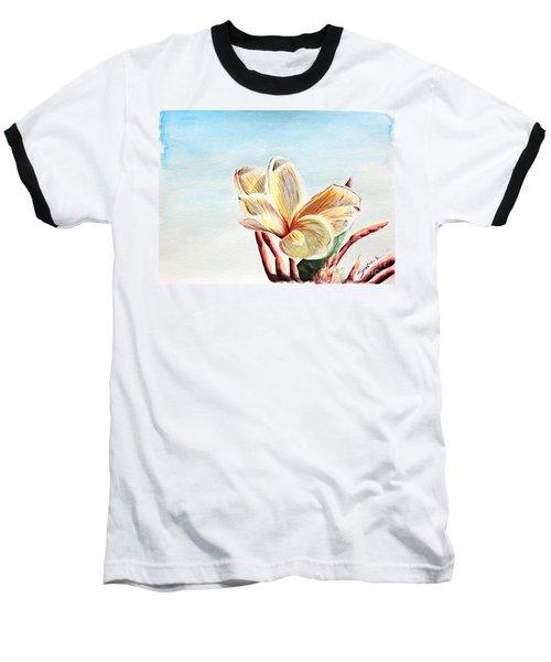 Laguna Flower Baseball T-Shirt by Katharina Filus