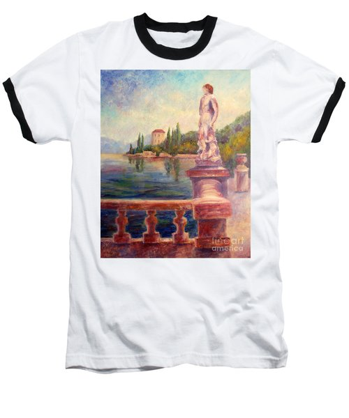 Lake Como View Baseball T-Shirt