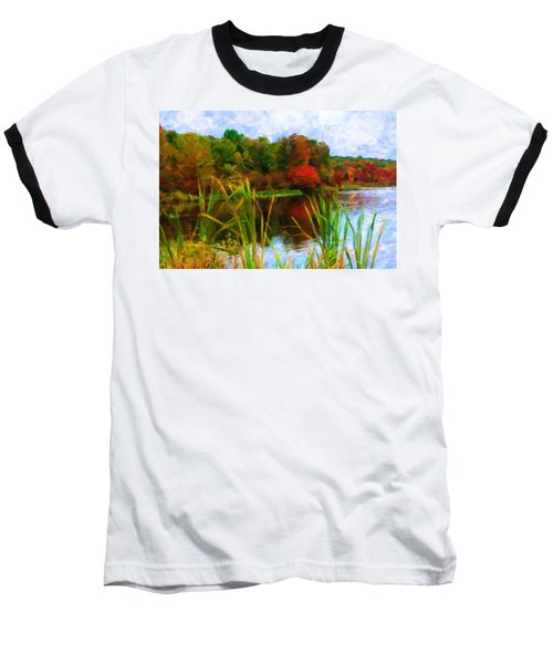 Lake In Early Fall Baseball T-Shirt