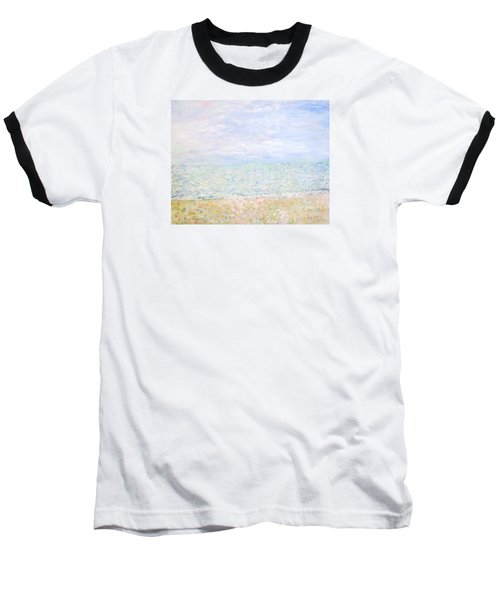 Lake Michigan At Oak St Bch Chicago Baseball T-Shirt