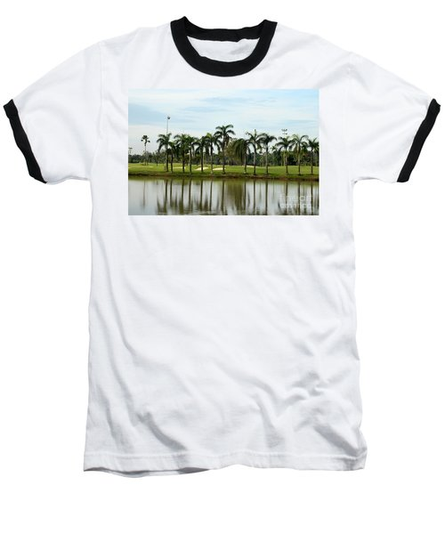 Lake Sand Traps Palm Trees And Golf Course Singapore Baseball T-Shirt by Imran Ahmed
