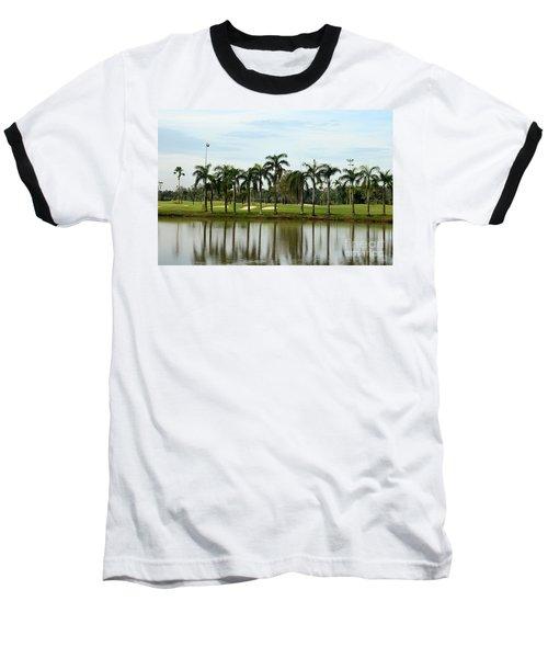 Lake Sand Traps Palm Trees And Golf Course Singapore Baseball T-Shirt