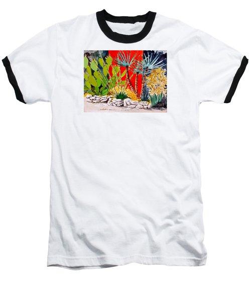 Lake Travis Cactus Garden Baseball T-Shirt by Fred Jinkins