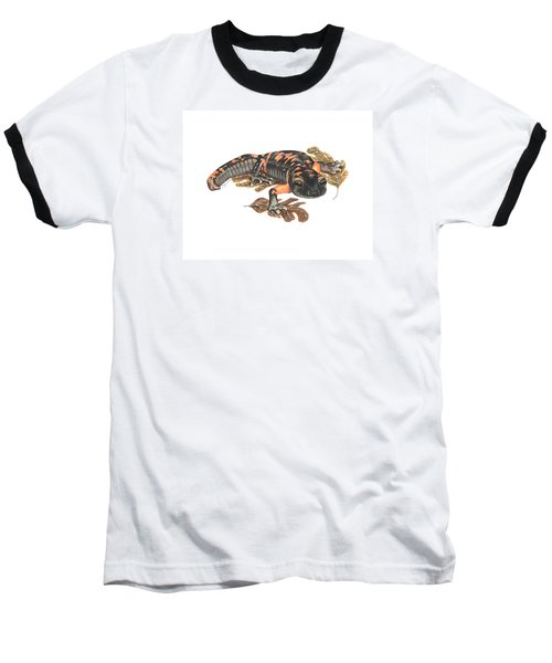Large Blotched Salamander2 Baseball T-Shirt by Cindy Hitchcock