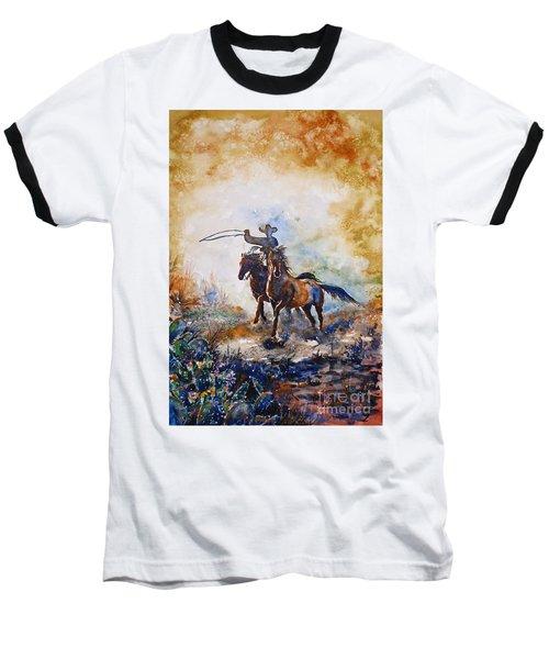 Lassoing Baseball T-Shirt by Zaira Dzhaubaeva